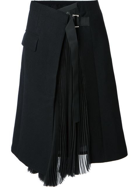 Shop Sacai wrap skirt in  from the world's best independent boutiques at farfetch.com. Over 1000 designers from 300 boutiques in one website.: