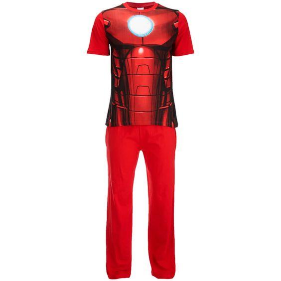 Marvel Men's Iron Man Pyjama Set Red