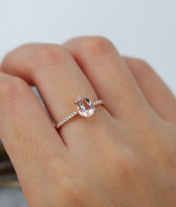 Gemmart Ring Cute Double Ring rose gold engagement ring