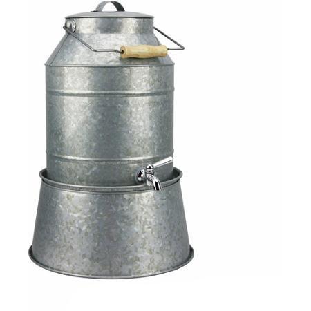 Galvanized Metal Drink Dispenser Stand