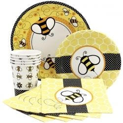 These are the party supplies we are using for the bumble bee party