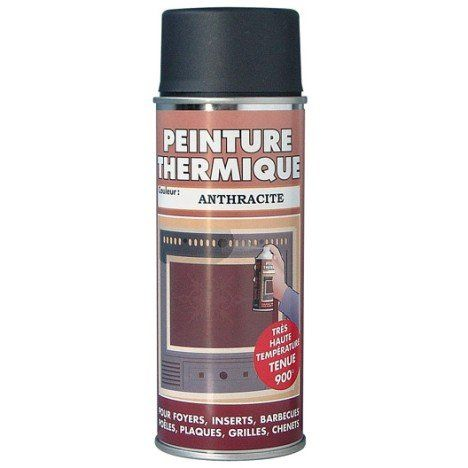 Peinture thermique anthracite PYROFEU, aérosol de 400 ml