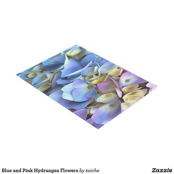 Blue And Pink Hydrangea Flowers Doormat Zazzle Com In 2020 Pink Hydrangea Hydrangea Flower Hydrangea