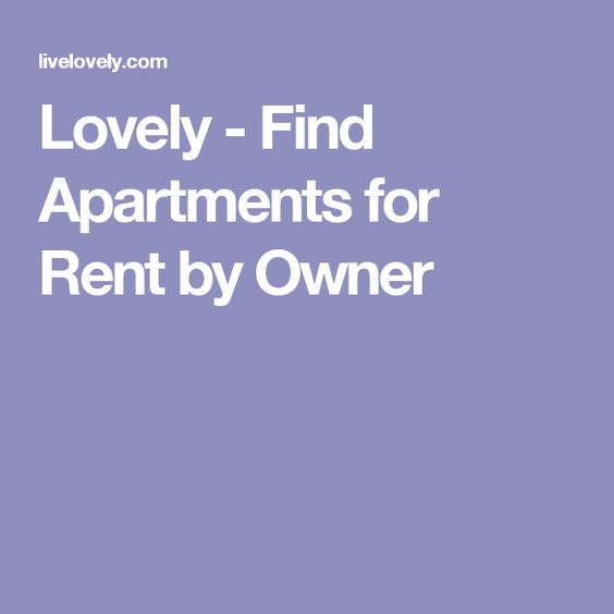 Lovely - Find Apartments for Rent by Owner