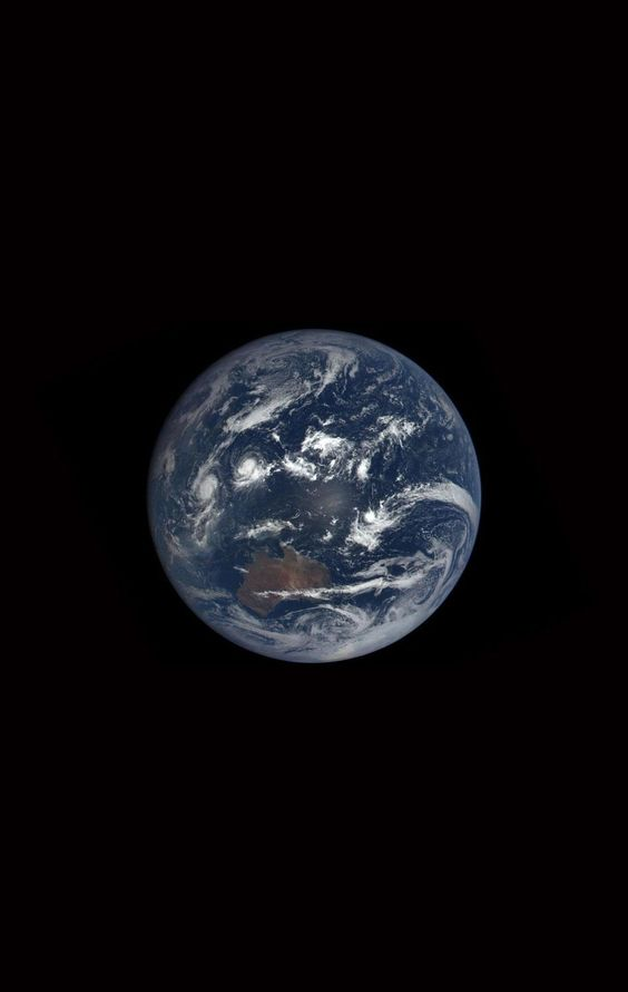 "A ""blue marble"" photo taken by the Deep Space Climate Observatory"