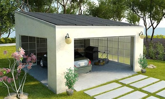 What a great idea, a carport that includes enough solar panels to power a 3,000 sq ft house - Envision Solar - $43,000