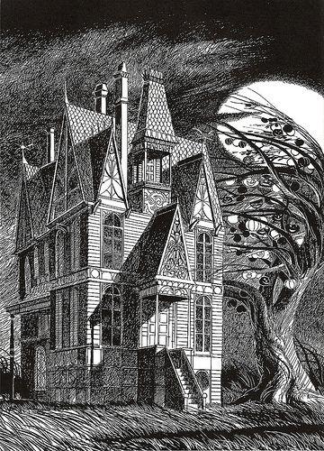 illustration from Bradbury's The Halloween Tree