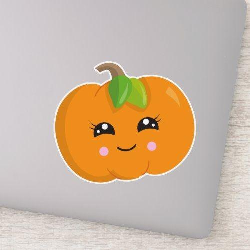 Small Halloween pumpkin orange sticker