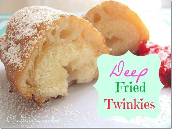 Deep Fried Twinkies...  I've heard so much about these, but didn't try them till last week!  OH MY!  Soooo goood!  So easy!