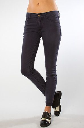 The Mid Rise Skinny Jeans in Navy by Your Eyes Lie