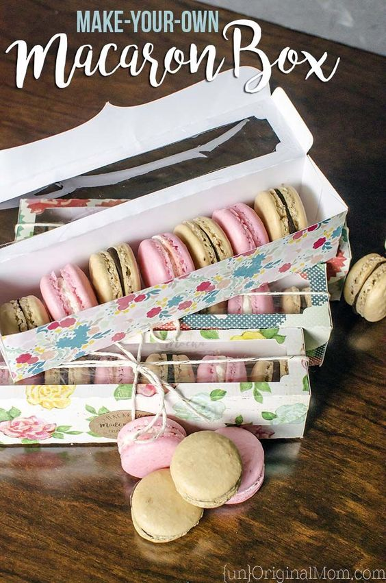 Tutorial to make your own macaron box with a Silhouette machine, perfect for gifting these beautiful little cookies to neighbors, teachers, or friends.