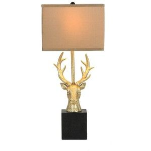 Gold Deer Head Table Lamp | living room decor | Pinterest | Shops ...:Gold Deer Head Table Lamp | living room decor | Pinterest | Shops, Gold and  Head tables,Lighting
