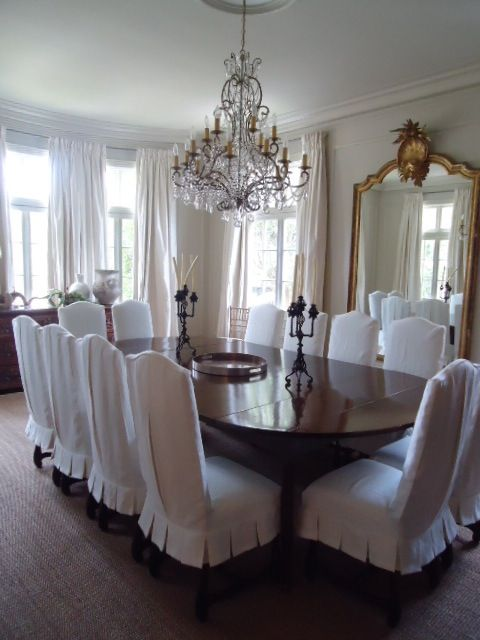 formal dining room designs with chair cover | New Orleans dining room.So very classic and Southern ...