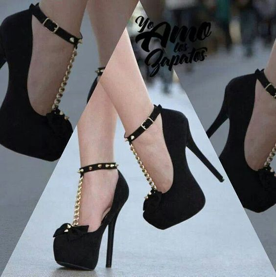#Black #bow #bling #shoes