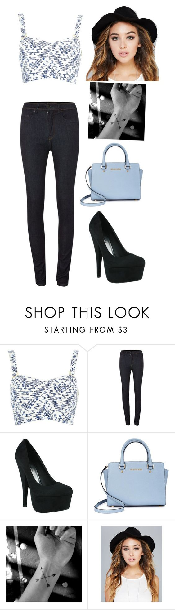 """""""Untitled #15"""" by mirandadancer54 ❤ liked on Polyvore featuring River Island, Salsa, Michael Kors and Wet Seal"""