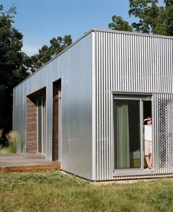 Image Result For Mid Century Modern Corrugated Metal House Cladding Shed Homes House Exterior