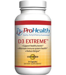 Vitamin D3 Extreme (Vitamin D3 50,000 IU Supplement). 50,000 IU Vitamin D3 - Prescription Strength. 50,000 IU Vitamin D3. Promotes a healthy immune system*. Supports healthy bones*. Available at ProHealth.com ($15.49) #ProHealth