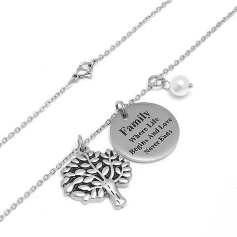 10 Pieces Charm Family Tree Pendant Necklace Necklaces Itireydn Silver Nl014 Touchystyle 1 Custom Charm Bracelet Cheap Jewelry Online Pendant Necklace Outfit