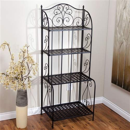 Chooseandbuy Indoor Outdoor Folding Metal Bakers Rack Plant Stand