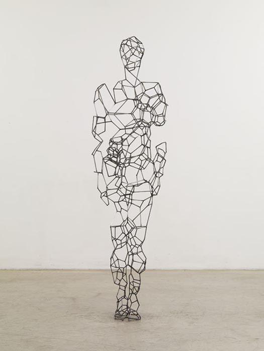 Art Sculpture of Geometric Human Body Shapes by Antony Gormley