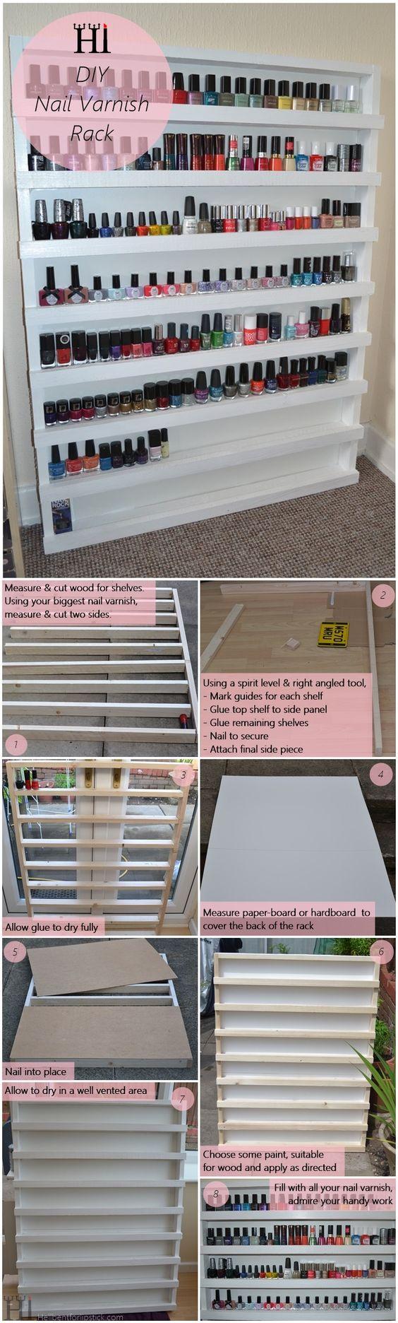 Nail Varnish Rack Storage - DIY Tutorial