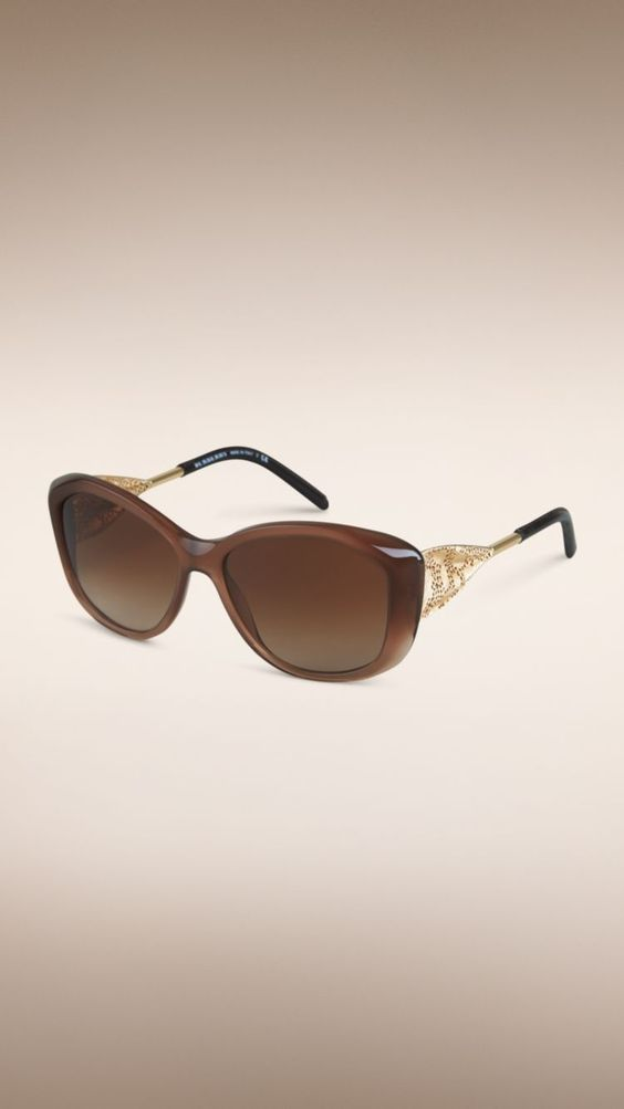 Gafas de sol con montura cuadrada de la colección Encaje de gabardina