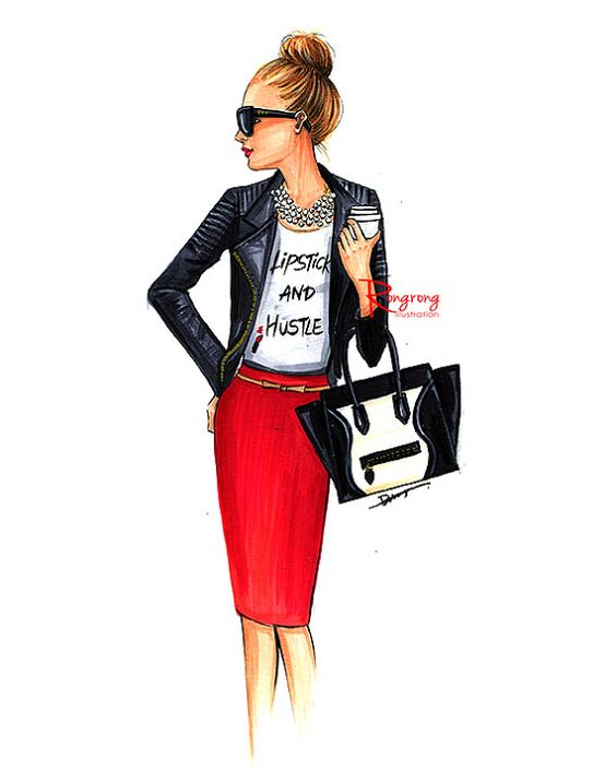 Mode-Illustration skizzieren Sie Mode von RongrongIllustration