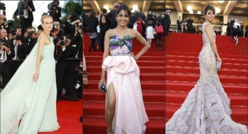 Cannes Red Carpet: Diane Kruger vs Frieda Pinto vs Eva Longoria!