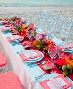 bright colors - seaside tablescape