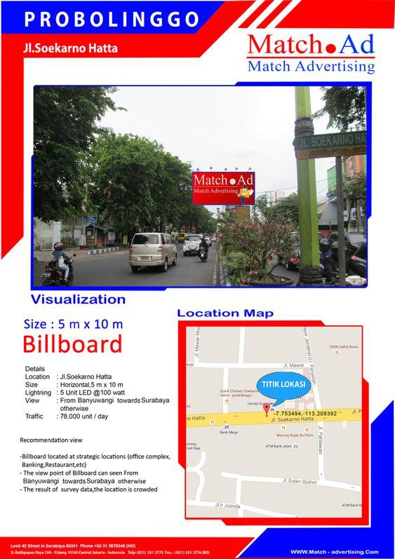 Probolinggo, Jl. Soekarno Hatta (Surabaya to Banyuwangi) - Billboard 5x10