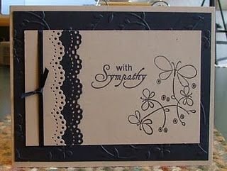 Sympathy card:  Ring-Binder, Cards Ideas, Sympathy Cards, Crafts Cards, Handmade Card, Cards Sympathy, Cards Tags, Card Ideas, Cards Black