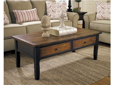 The Paskene Coffee Table From Ashley Furniture HomeStore The Warm Inviting  Rustic Design Of The U201cPaskeneu201d Accent Table Collection Beautifully  Transforms Any ...