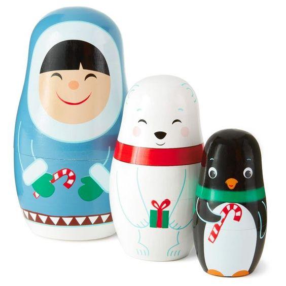 Frosty Friends Nested Dolls Set