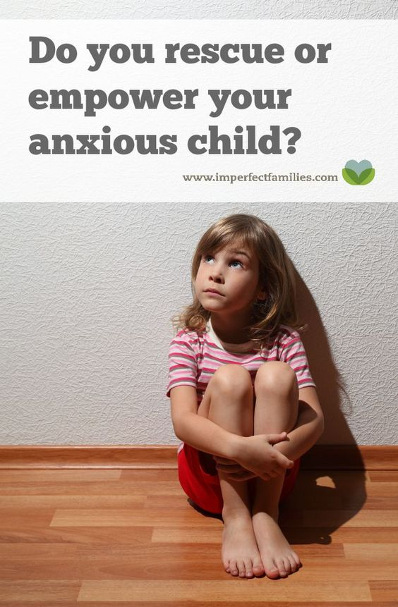"Many parents rescue their anxious child instead of helping them deal with the feeling until it fades. Learn how to support your child using the ""anxiety arch"" explanation:"