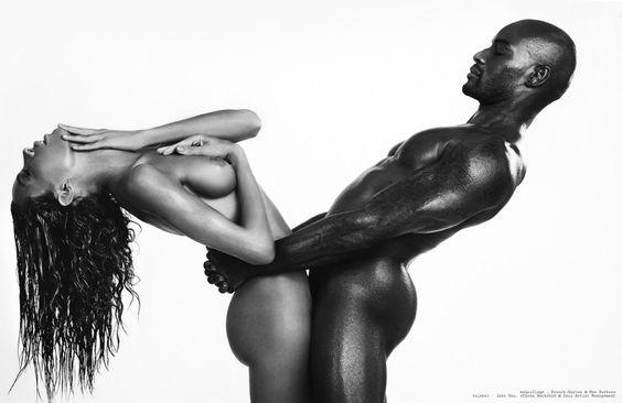 "The super model Tyson Beckford & Inès Rau - ""On my skin"" by Rodolfo Martinez - OOBMAG"