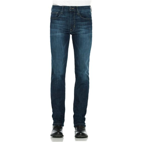 Joe's Jeans Men's Straight Narrow Brixton Farenheight Jeans ($89) ❤ liked on Polyvore featuring mens, men's clothing and men's jeans