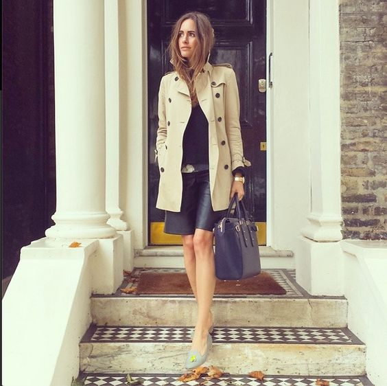 Louise Roe, popular TV presenter with the Marylebone tote in black