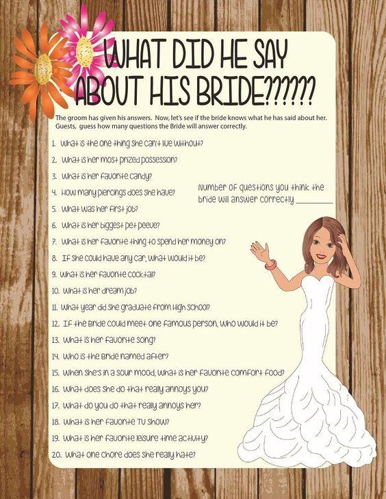 Bridal shower games shower games and bridal shower on for Non traditional bridal shower games