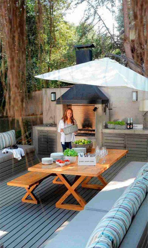 Terraza con barbacoa 1 barbacoas paelleros pinterest - Barbacoas de obra para jardin ...