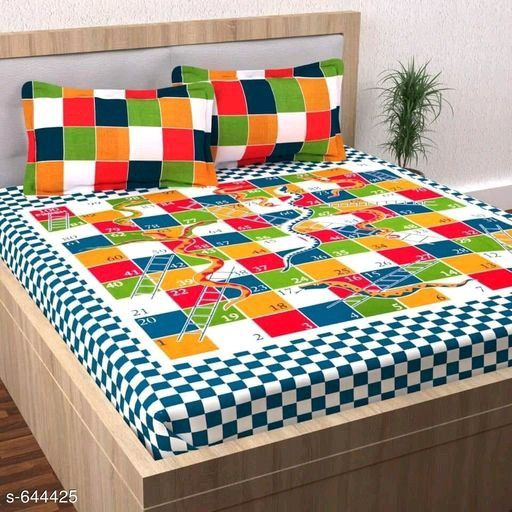 Sheet under with angles Single 1p Medium-Double the Colorful Cotton