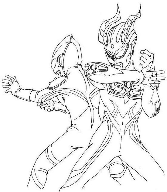 New Ultraman Coloring Page For Boys Buku Mewarnai Seni