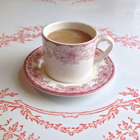 Vintage Poinsettia Cup & Saucer