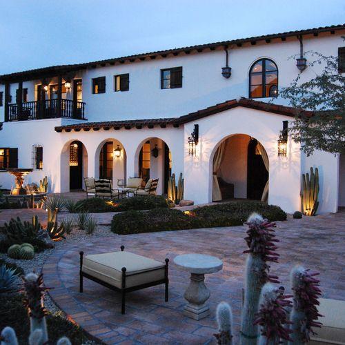Exterior Modern Spanish Style House In 2020 Spanish Colonial Homes Mediterranean House Designs Mediterranean Homes