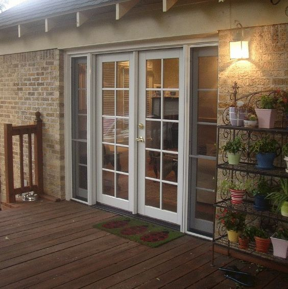 Patio door screen patio and french on pinterest for Double opening french patio doors