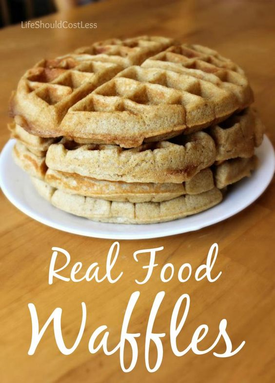 Real Food Waffle Recipe. Made with Whole Wheat, Coconut Oil, Agave or Raw Honey, and Kefir or Milk.