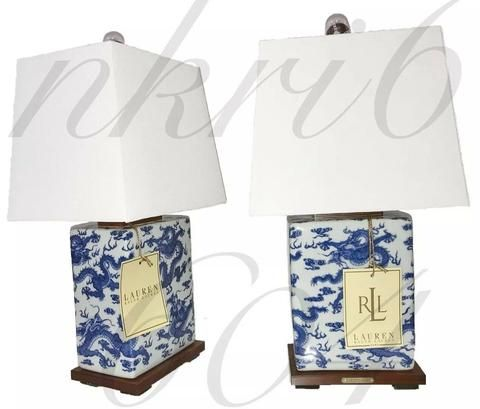 Blue And White Lamps, Ralph Lauren Blue And White Dragon Lamp