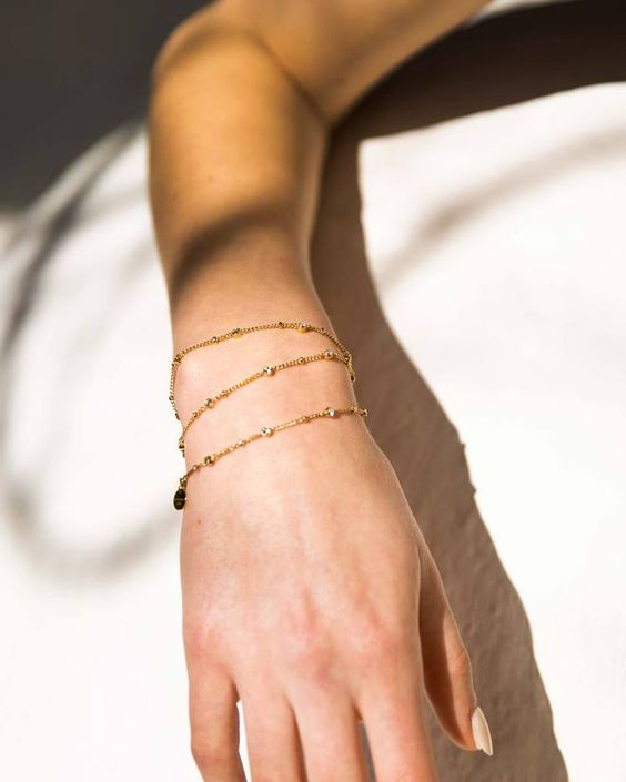 Bracelet embellished with Swarovski Crystal   Black stone earrings ...