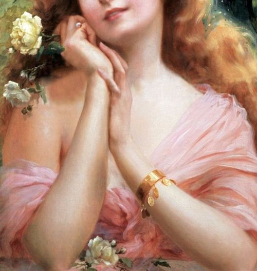 "die-rosastrasse: "" Émile Vernon French, 1872-1919 ""A Summer Reverie"" (detail) """