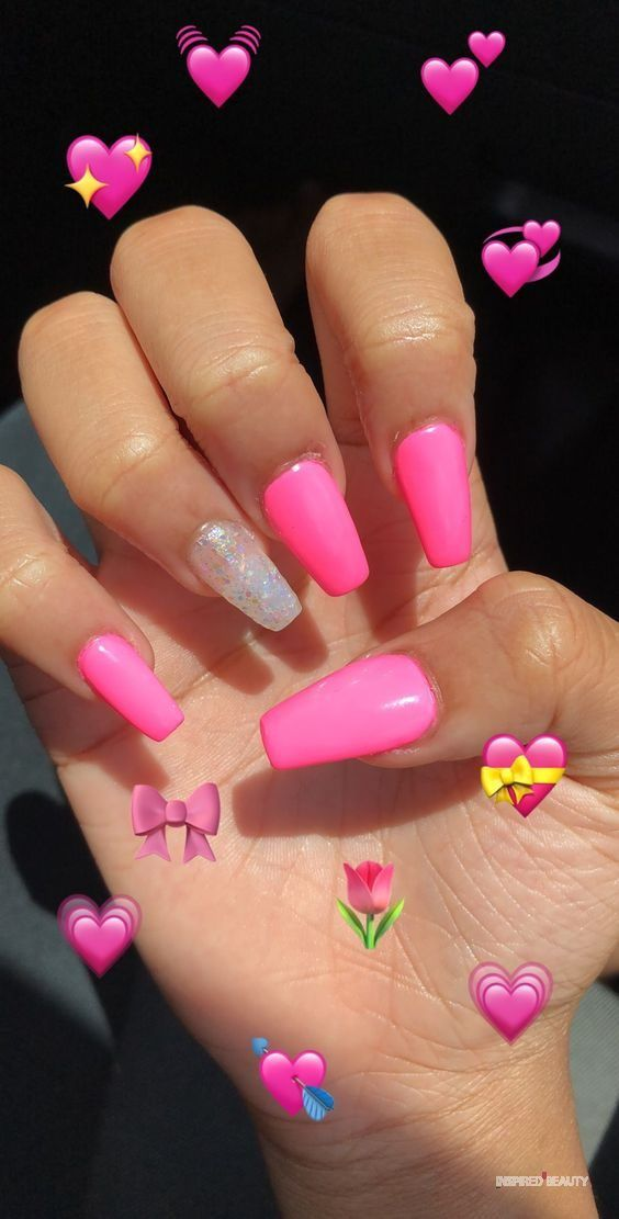 52 Pretty Pink Nails Ideas Inspired Beauty Pink Nails Acrylic Nails Dream Nails