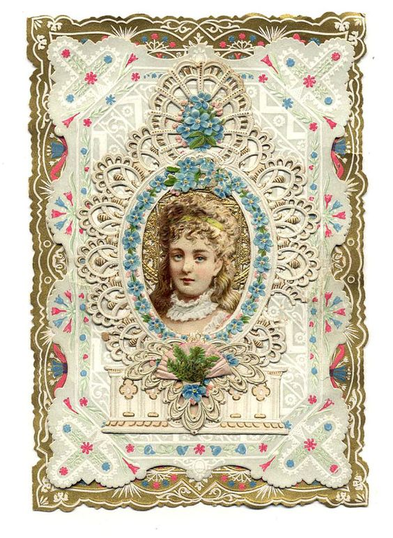 Antique Victorian Valentine with Paper Lace by SwedishGalsAttic, $23.00